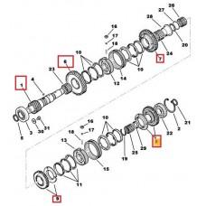 Arbore secundar, pinion receptor - cutie de viteze Citroen C-Crosser 4x4 2.2 HDI 6 trepte